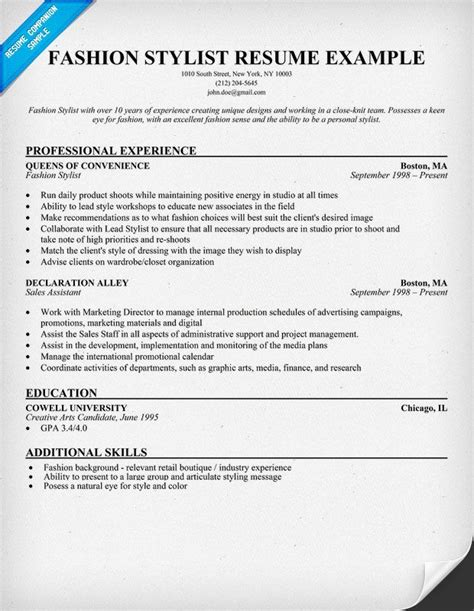 costume designer resume sample copywriteropeningsweb