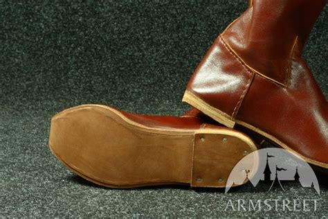 Handmade Renaissance Boots - handmade high classic leather boots for sca and