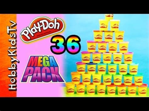 Play Doh Mega Pack 36 Cans play doh mega pack 36 cans by hasbro box opening by