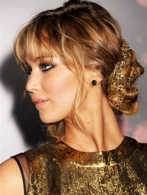 elegant hairstyles with bangs 13 best formal hairstyles for medium hair with bangs for