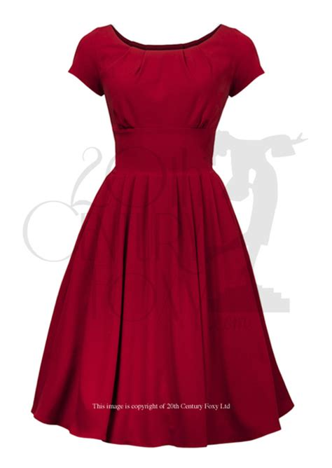 style lucy dress  red  neckline