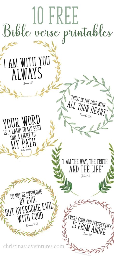 Free Printable Bible Verses To Frame