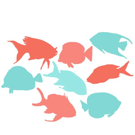 school of fish silhouette png | www.pixshark.com images