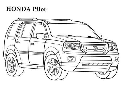 coloring pages real cars honda coloring pages and print for free