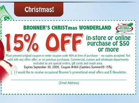 bronner s christmas wonderland 15 off in store or online