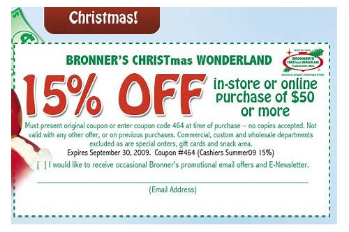 bronner's coupon code march 2018