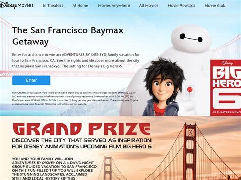 San Francisco Sweepstakes - disney san francisco baymax getaway sweepstakes