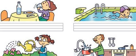 distintos usos del agua colouring pages imagenes de el uso del agua imagui