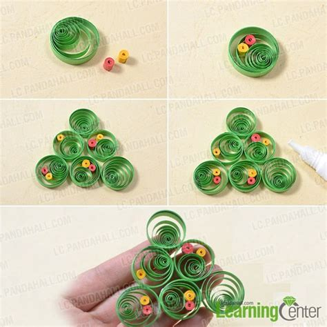 paper quilling christmas tree tutorial pandahall tutorial on how to make a 3d paper quilling