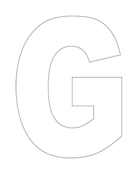 Alphabet Letter G Template For Kids   3 year old Growing