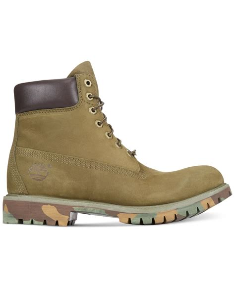 green timberland boots timberland 6 quot premium boots in green for lyst