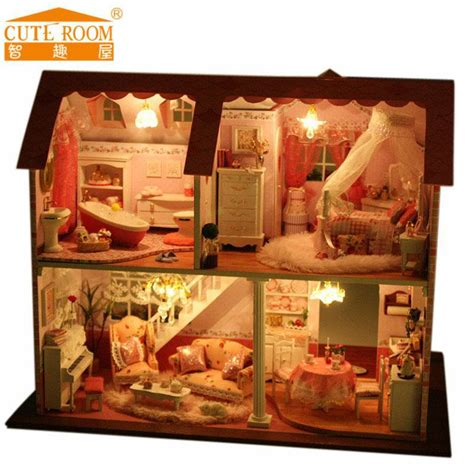 cheap wooden dolls house furniture popular diy dollhouse buy cheap diy dollhouse lots from china diy dollhouse suppliers