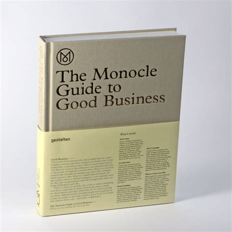 Business Letter Guide Book the monocle guide to business cool