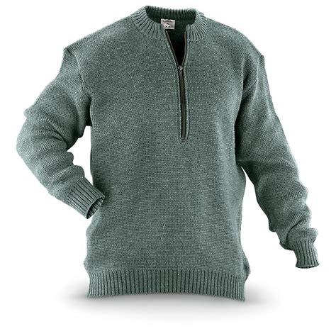 Sweater Loreng Gurun Sweater Army swiss surplus wool sweater used 292883 sweaters at sportsman s guide