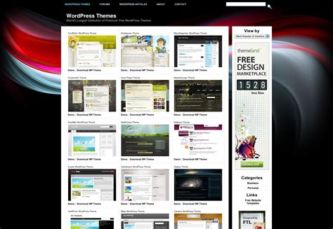 template free themes the a z of theme websites webdesigner depot