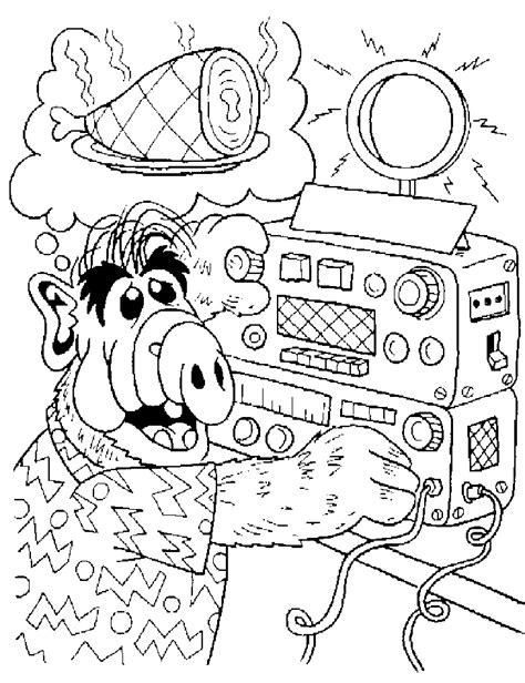 Remax 502 Robot Original White Series alf coloring pages