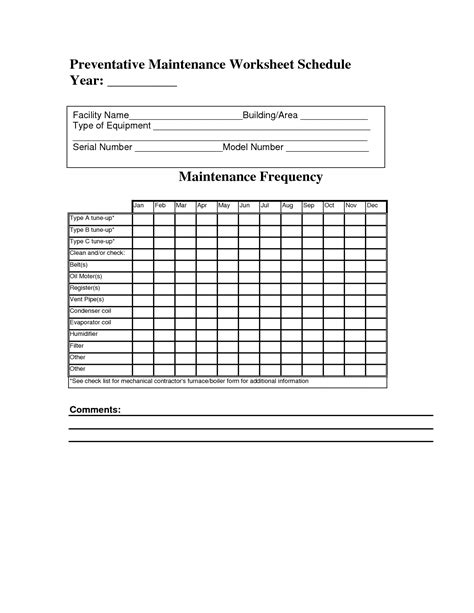 Best Photos Of Facility Preventive Maintenance Checklist Preventive Maintenance Checklist Preventive Maintenance Forms Templates
