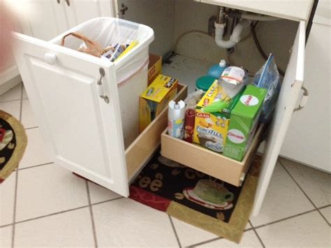 Under sink pull out shelves kitchen drawer organizers miami by shelfgenie of miami