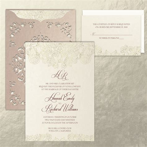craftsman wedding invitations craft wedding invitations stationery hyegraph