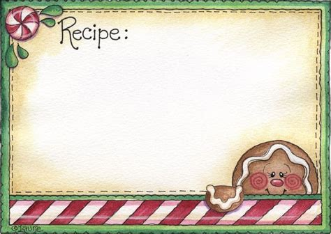gingerbread recipe card template 17 best images about gingerbread clipart on