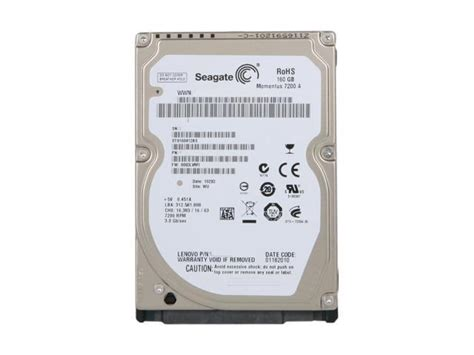 Harddisk Seagate 160gb seagate momentus 7200 4 st9160412as 160gb 7200 rpm 16mb