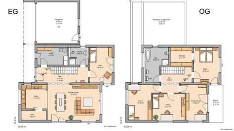 Moderne Grundrisse Einfamilienhaus by Grundriss Einfamilienhaus Modern Gerade Treppe Emphit