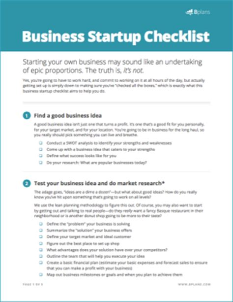 Home Plans Free Online business startup checklist free download bplans