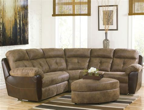 Small Reclining Sectional Sofas Small Sectional Sofa With Recliner Homefurniture Org