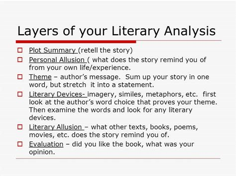 themes analysis story the understanding how to write a literary analysis an easy way