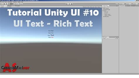 unity tutorial text tutorial unity ui 10 ui text rich text youtube