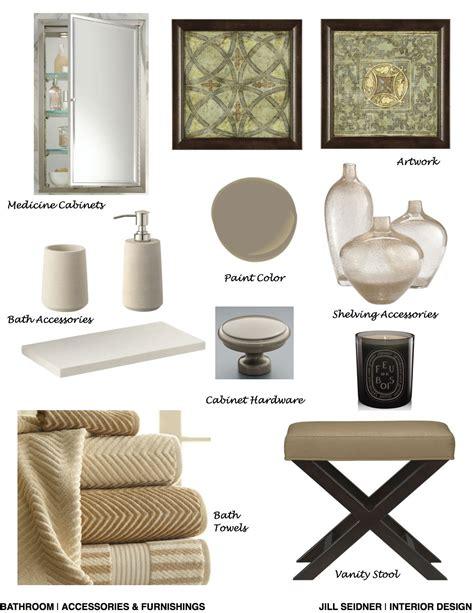 interior design bathroom concept board monterey heights ca residence bathroom accessories