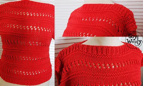 como tejer chompa d verano teje un jersey su 233 ter f 225 cil r 225 pido en dos agujas soy woolly