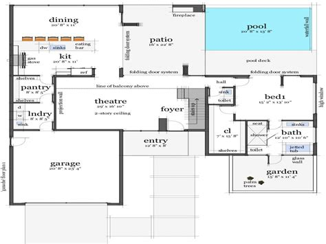 modern house with floor plan modern homes modern beach house floor plans house plans