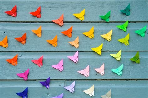 How To Make Paper Butterflies For Wall - origami butterfly make it for a simple sweet souvenir
