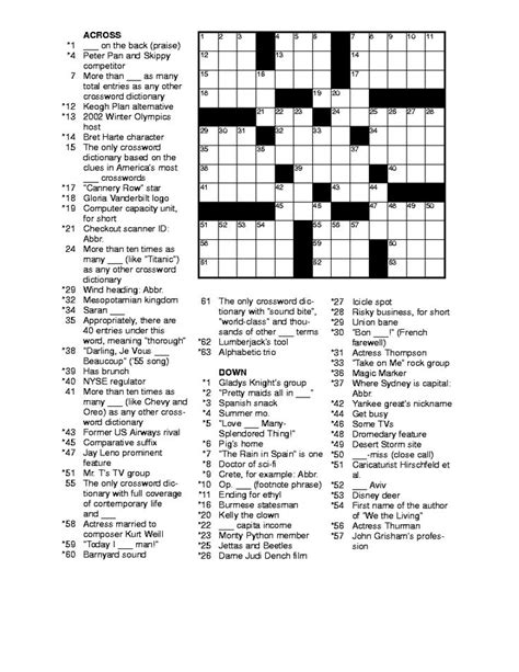 Printable Puzzles Best 25 Printable Crossword Puzzles Ideas On Pinterest