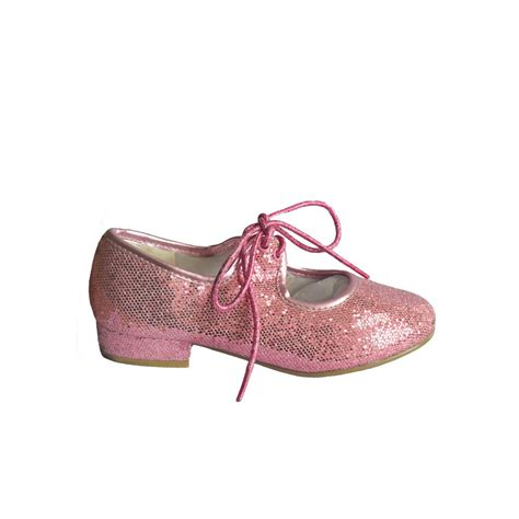 pink glitter low heel tap shoes dancewear universe