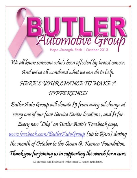 Cancer Research Donation Letter October 2013 Butler Hyundai S