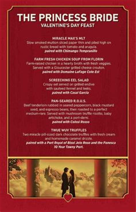 themes in the princess bride film alamo drafthouse movie themed dinners for valentines day