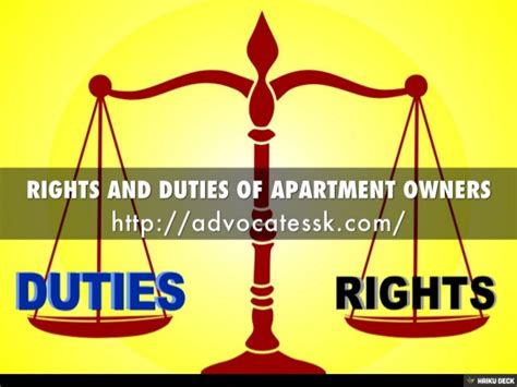 Apartment Owners Rights And Duties Of Apartment Owners