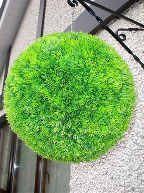 artificial topiary grass balls artificial 38cm moss grass topiary the artificial