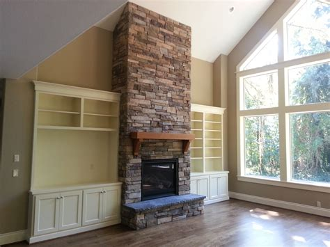 stone around fireplace fireplace new construction cultured stone raised hearth