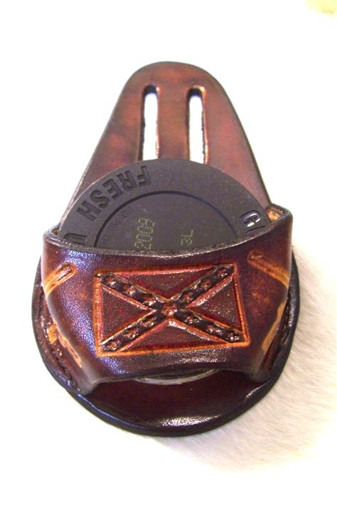custom leather snuff dip can belt pouch holster can2