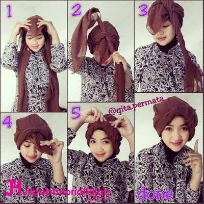 Tutorial Persegi Empat Simple tutorial turban segi empat simple jilbab tutorial