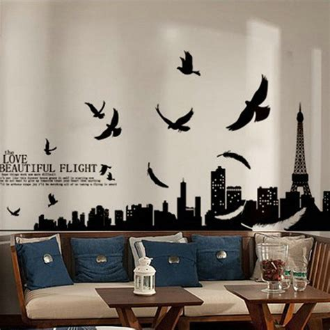 wall stickers wallpaper diy wall stickers eiffel tower wall sticker home