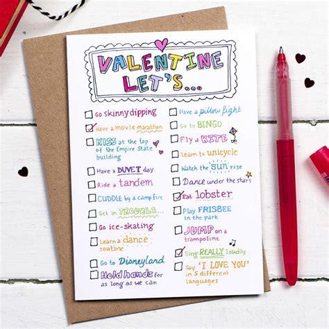 valentines list s day list card by eskimo designs