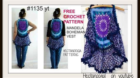 free crochet bohemian vest pattern mandala bohemian crochet vest gypsy vest sweaters tops