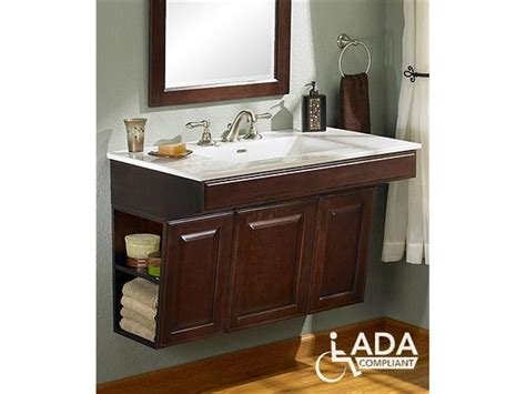 ada vanity handicap bathroom sinks and cabinets fairmont designs