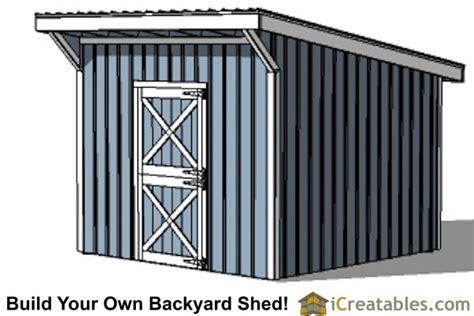 Single Slope Pole Barn Plans