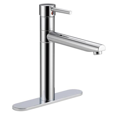 delta chrome kitchen faucets delta trinsic single handle standard kitchen faucet in