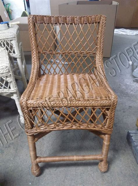 Pottery Barn Delaney Rattan Wicker Indoor Medium Dining Indoor Rattan Dining Chairs